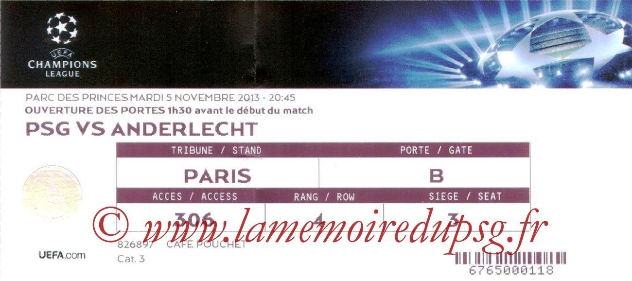 2013-11-05  PSG-Anderlecht (4ème Poule C1)