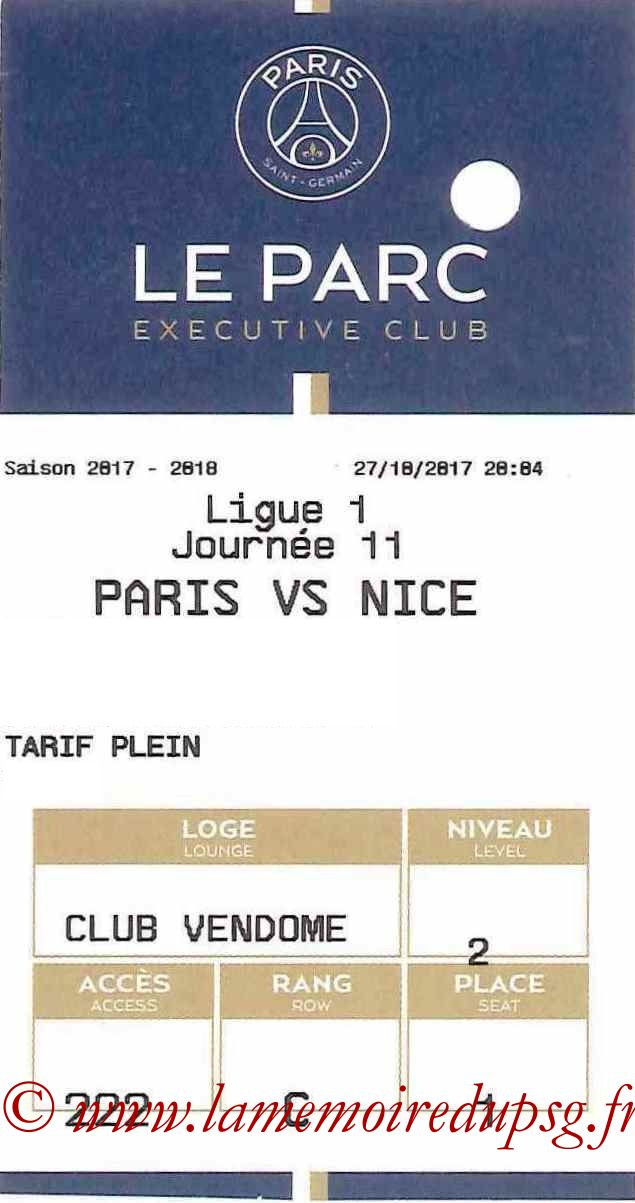 2017-10-27  PSG-Nice (11ème L1, E-ticket Executive club)