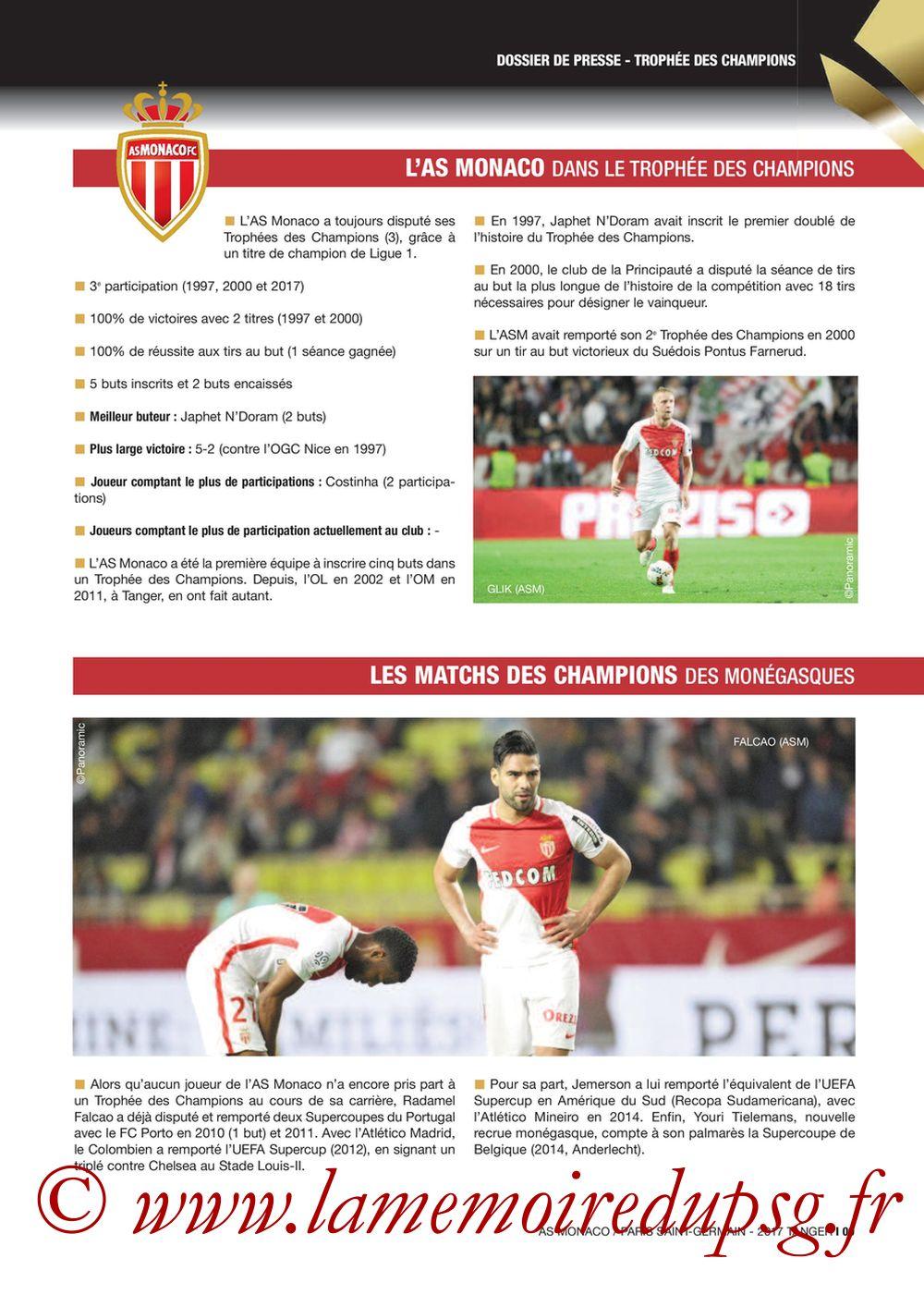 2017-07-29  Monaco-PSG (Trophée des Champions à Tanger, Dossier de Presse) - Page 09