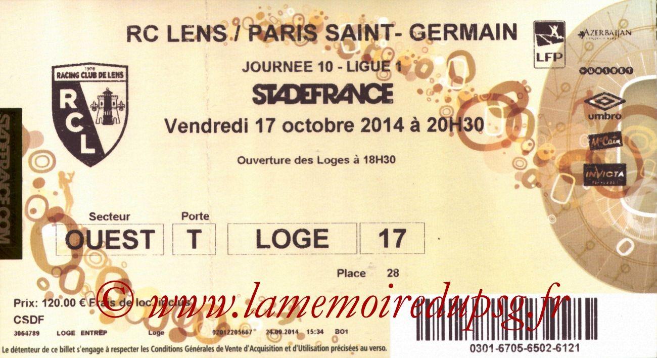 2014-10-17  Lens-PSG (10ème L1 au Stade de France)bis