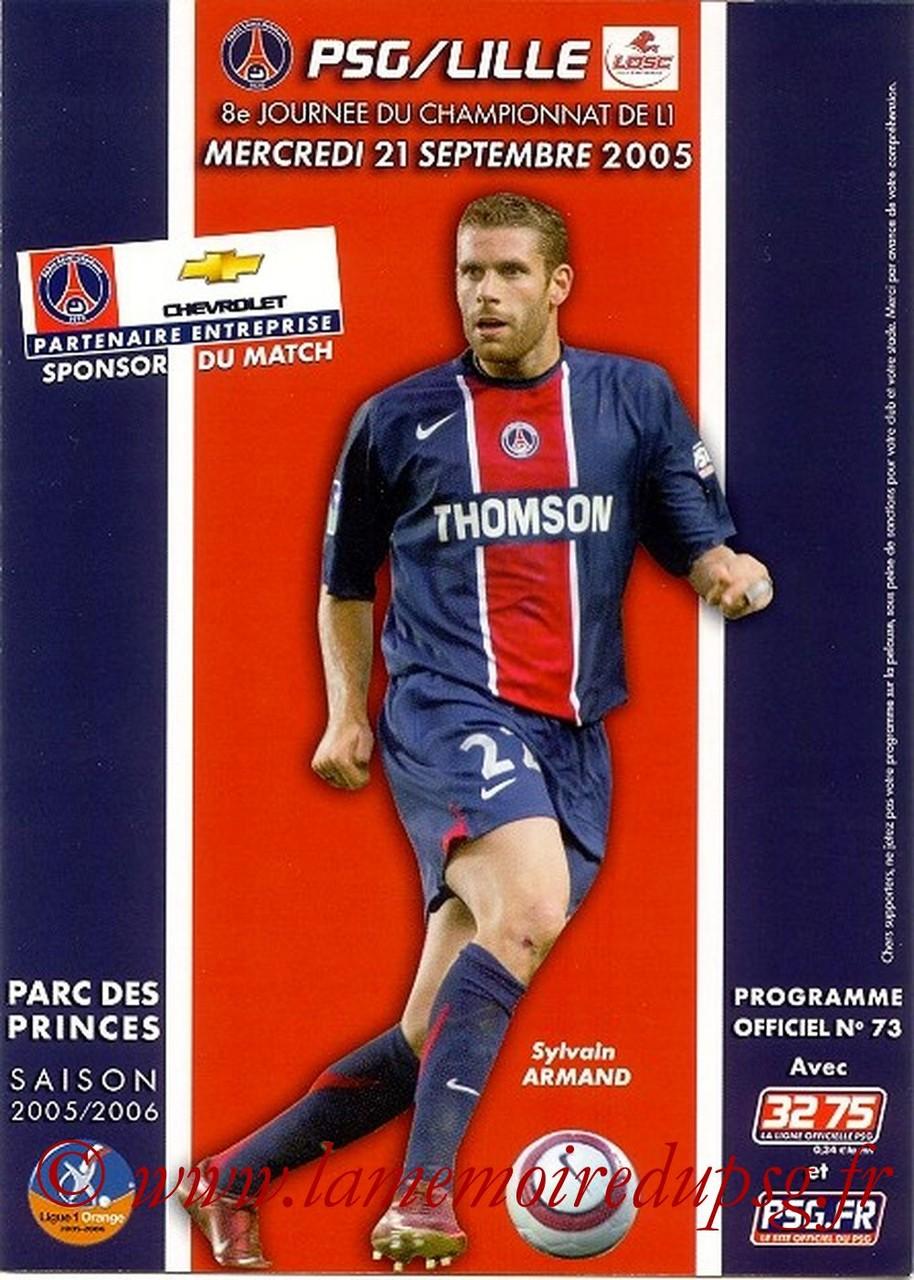 2005-09-21  PSG-Lille (8ème L1, Officiel N°73)
