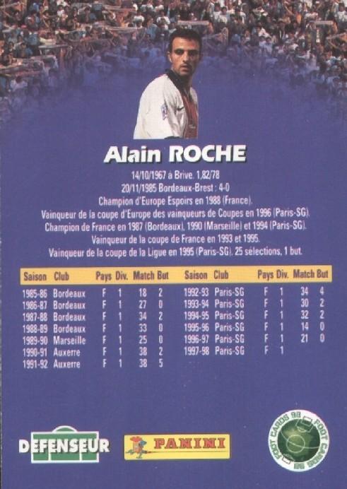 N° 130 - Alain ROCHE (Verso)
