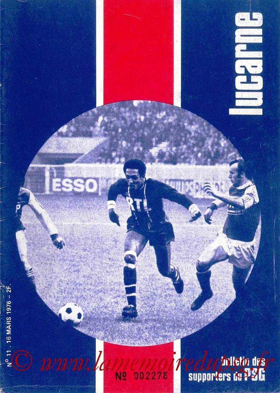 1976-03-16  PSG-Nice (27ème D1, Lucarne N°11)