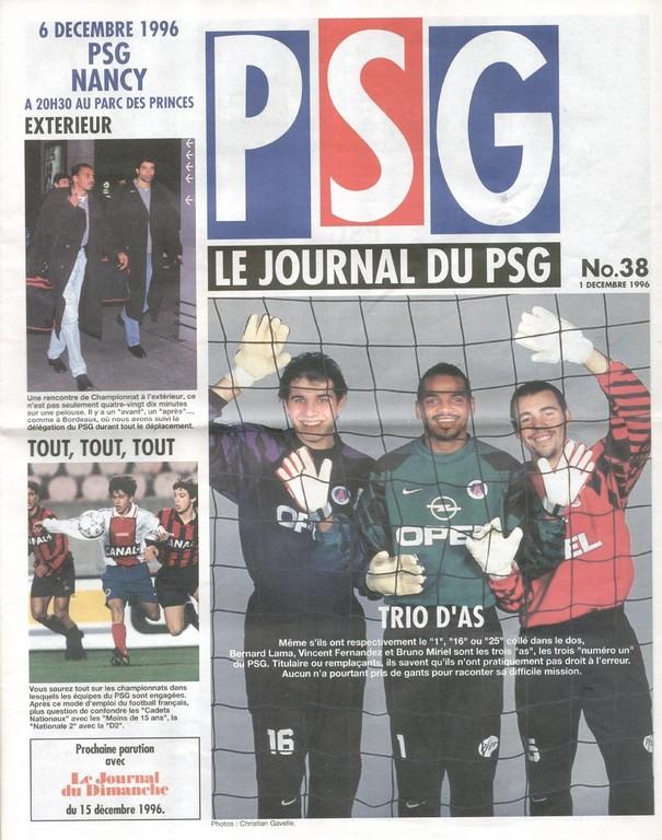 1996-12-06  PSG-Nancy (21ème D1, Le Journal du PSG N°38)