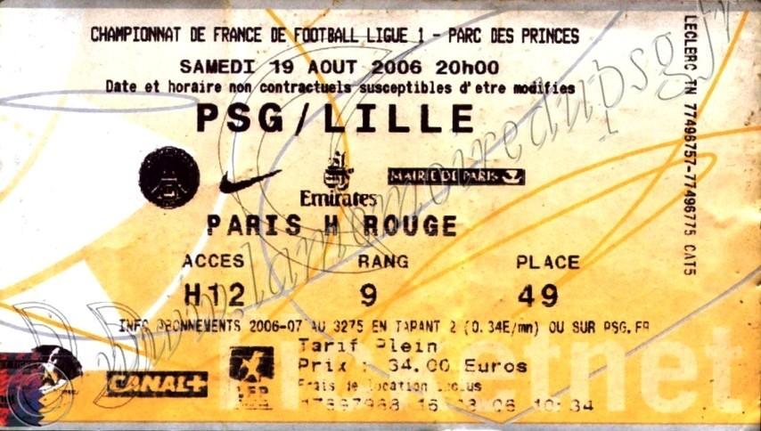 2006-08-19  PSG-Lille (3ème L1, Ticketnet)