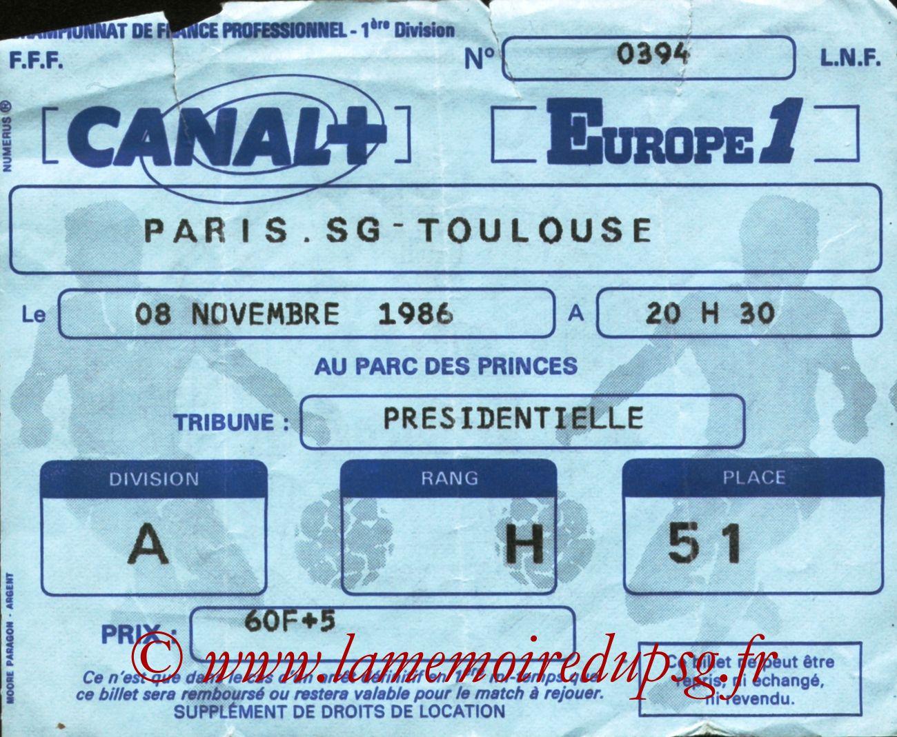 1986-11-08  PSG-Toulouse (16ème D1)