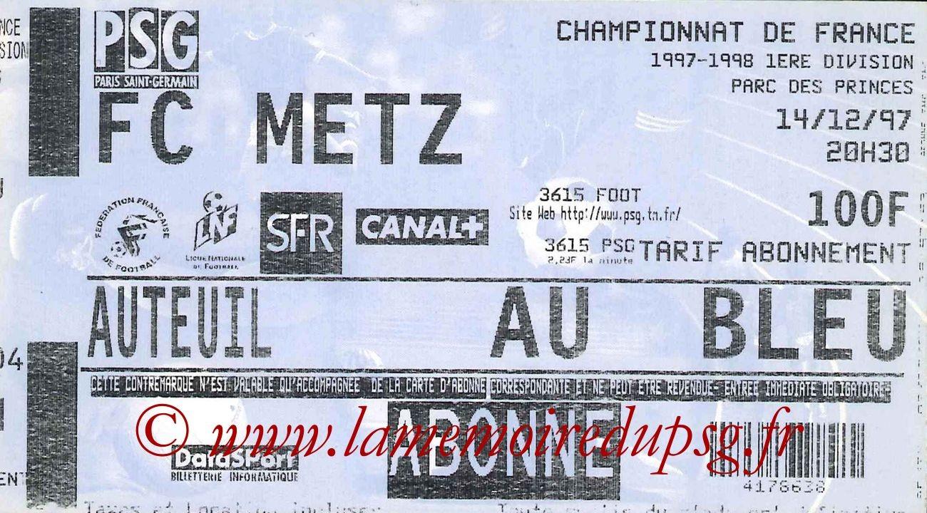 1997-12-14  PSG-Metz (20ème D1)