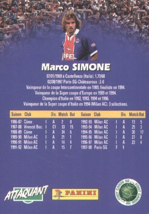 N° 131 - Marco SIMONE (Verso)