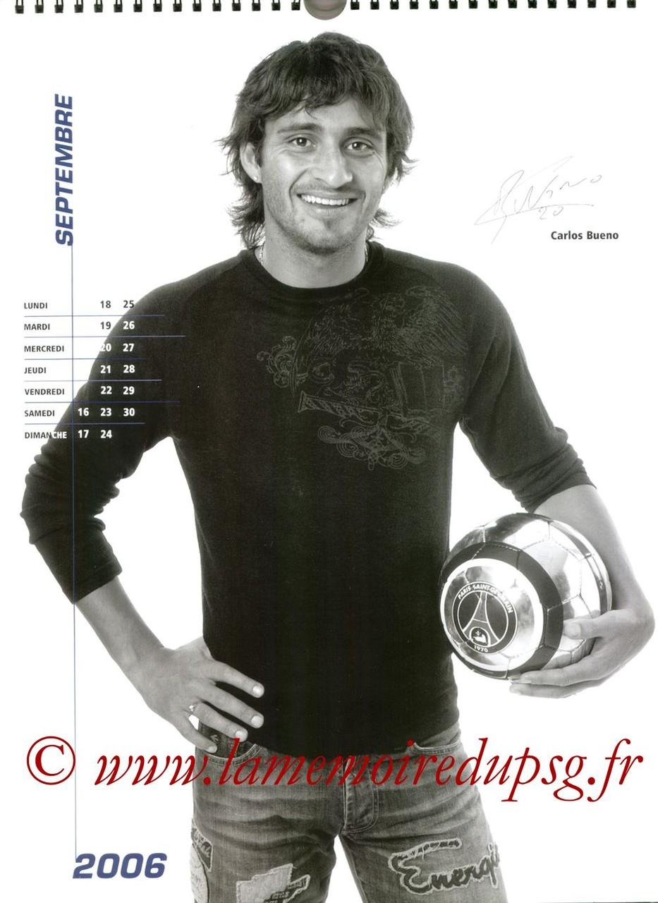 Calendrier PSG 2006 - Page 18 - Carlos BUENO