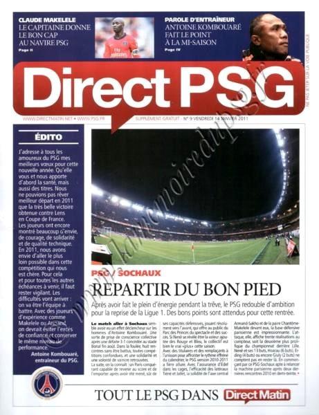 2011-01-15  PSG-Sochaux (20ème L1, Direct PSG N°9)