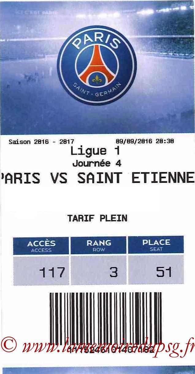 2016-09-09  PSG-Saint Etienne (4ème L1, E-ticket)