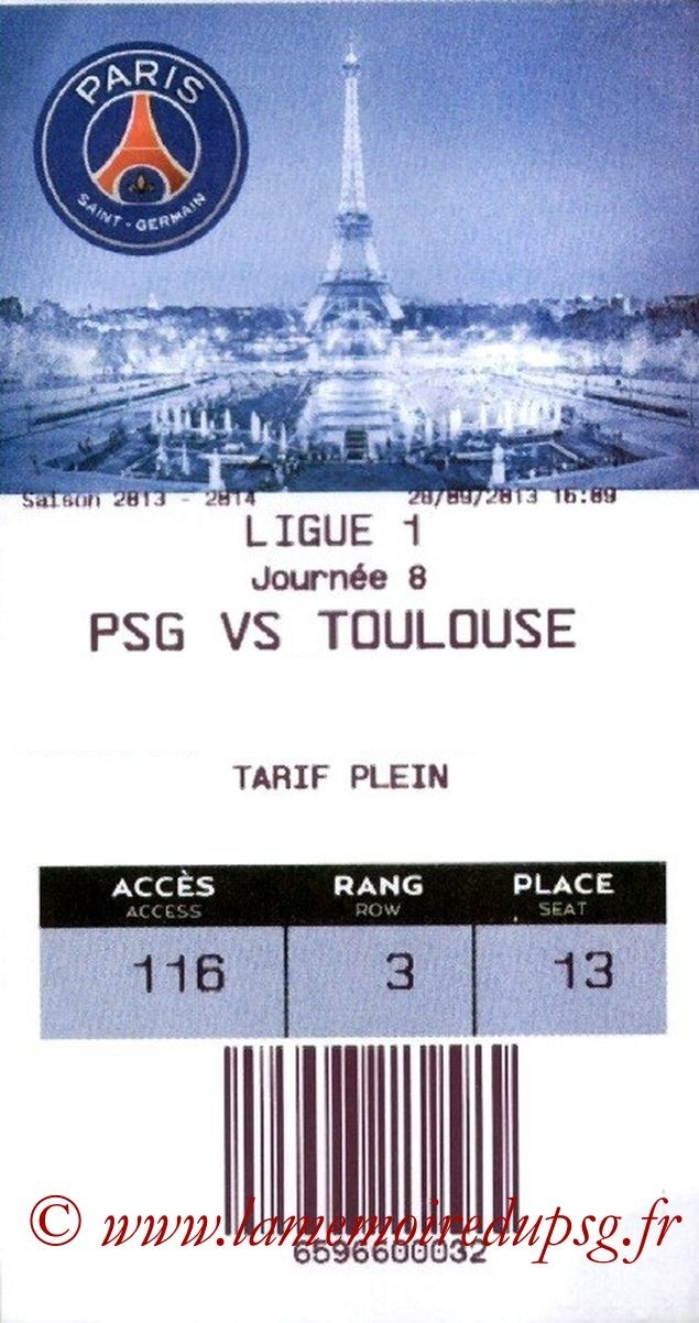 2013-09-28  PSG-Toulouse (8ème L1, E-Ticket)