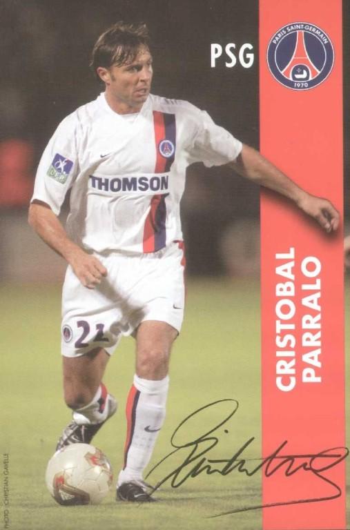 CRISTOBAL Parallo blanc autographe  02-03
