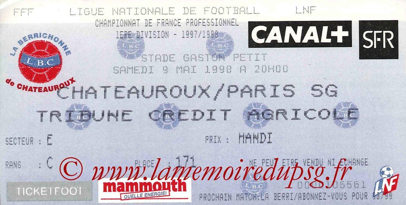 1998-05-09  Chateauroux-PSG (34ème D1)