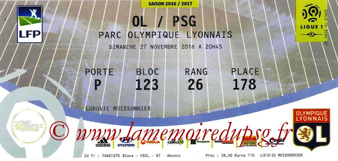 2016-11-26  Lyon-PSG (14ème L1)