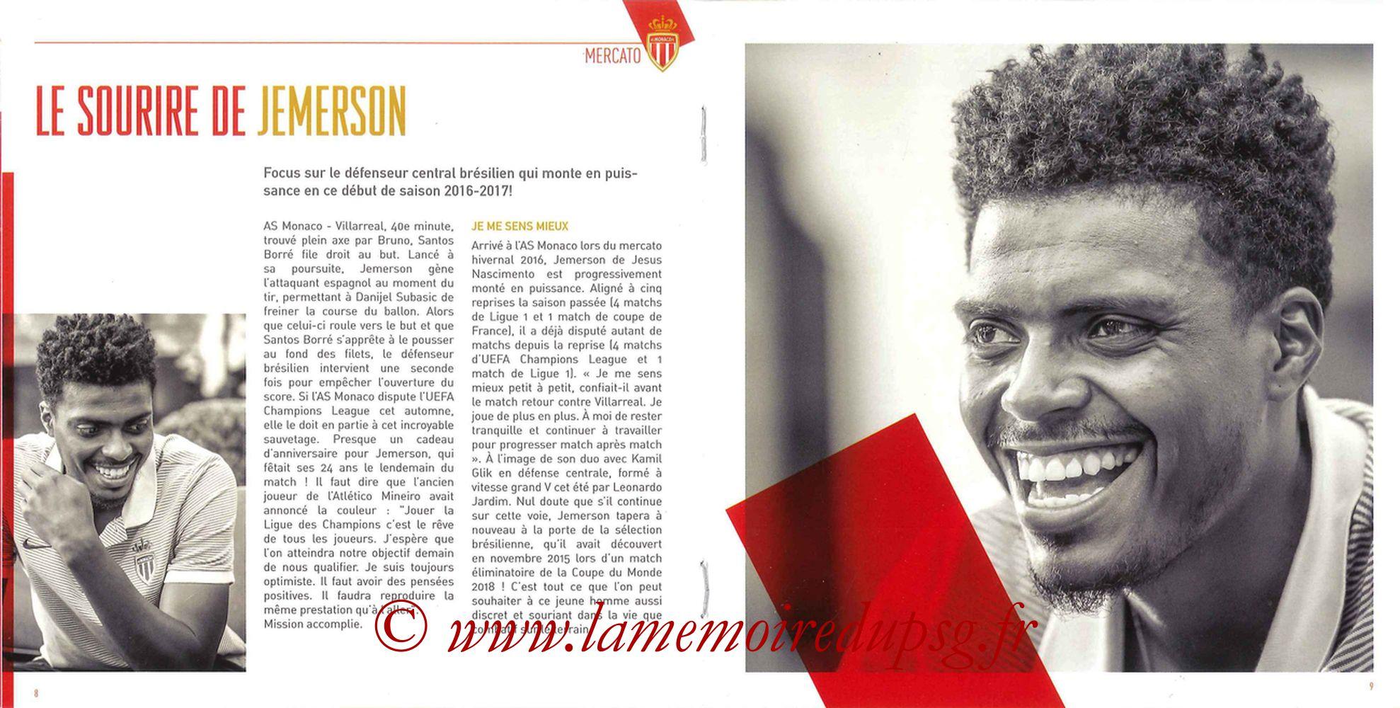 2016-08-28  Monaco-PSG (3ème L1, Programme officiel) - Pages 08 et 09