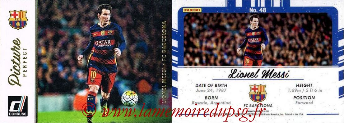 2016 - Panini Donruss Cards - N° PP48 - Lionel MESSI (FC Barcelone) (Picture Perfect)
