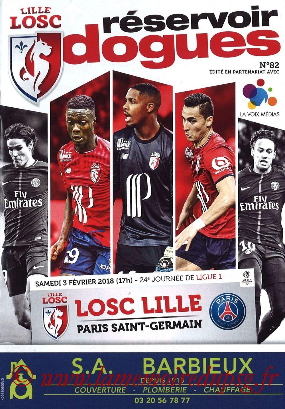 2018-02-03  Lille-PSG (24ème L1, Réservoir Dogues N°82)