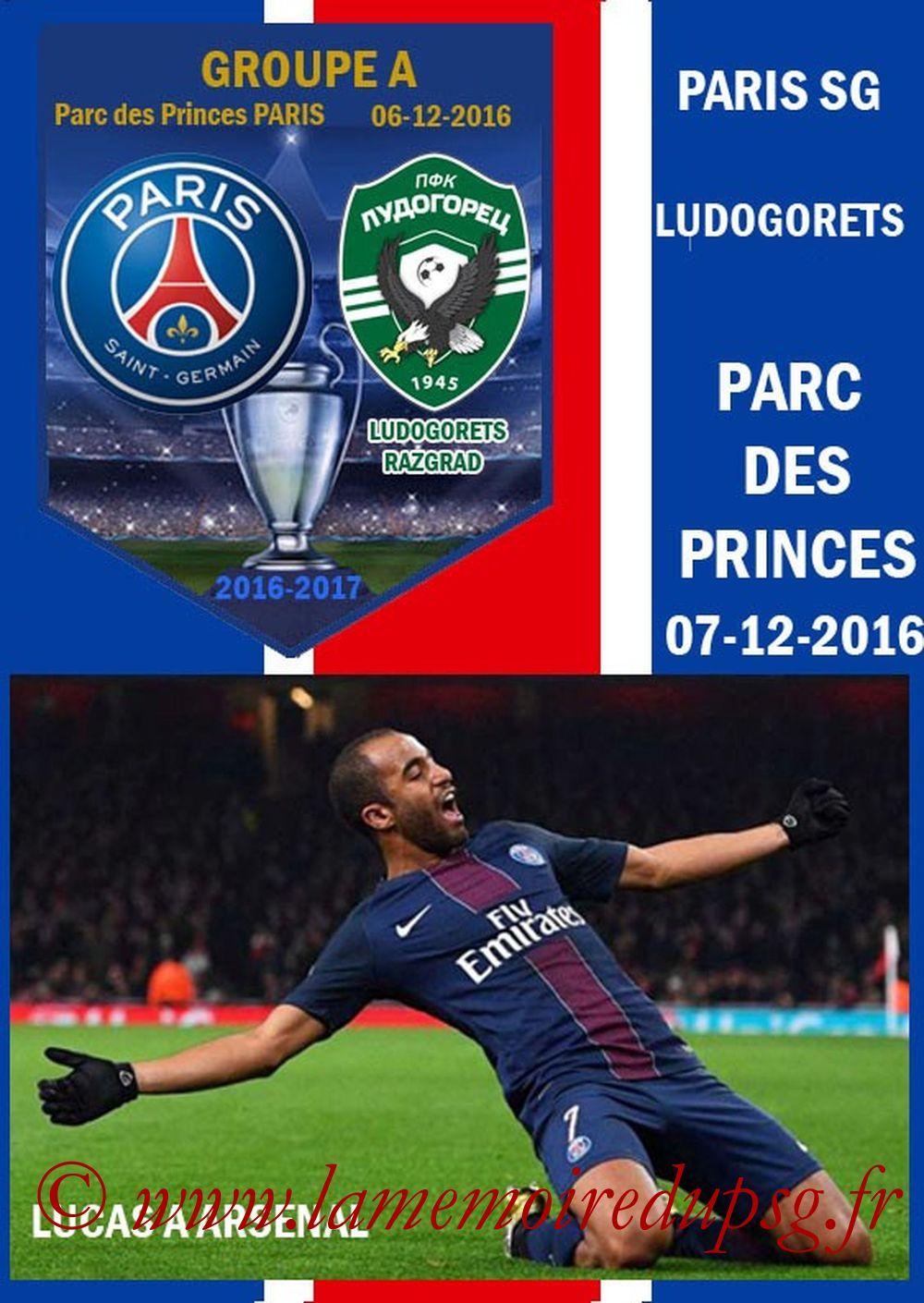 2016-12-07  PSG-Ludogorets (6ème C1, Programme pirate)