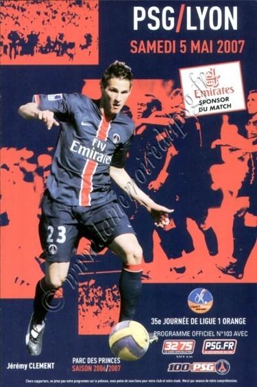 2007-05-05  PSG-Lyon (35ème L1, Officiel N°103)