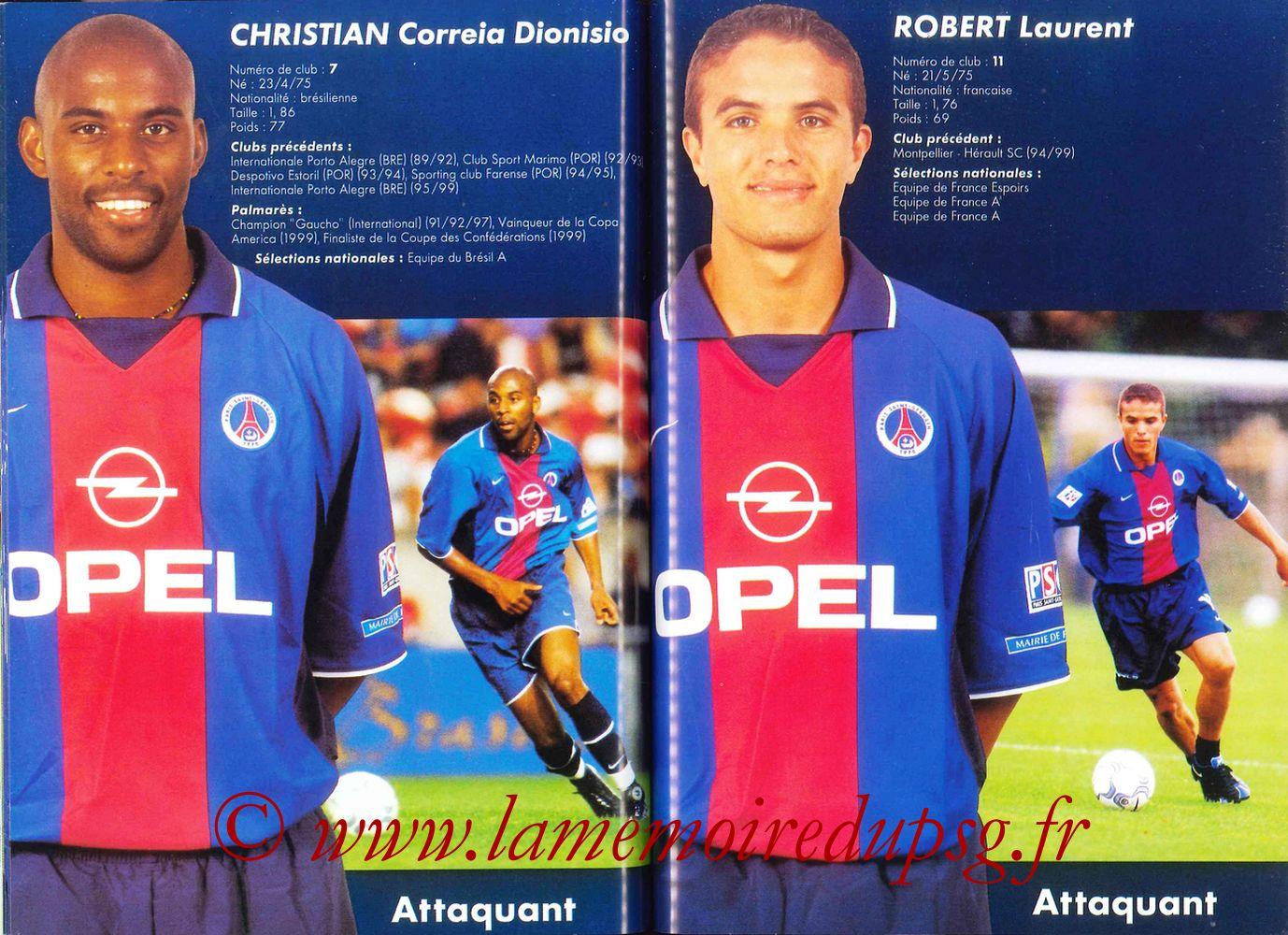 2000-01 - Guide de la Saison PSG - Pages 56 et 57