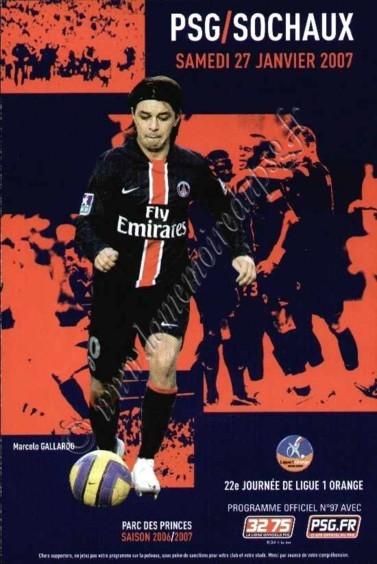 2007-01-27  PSG-Sochaux (22ème L1, Officiel N°97)