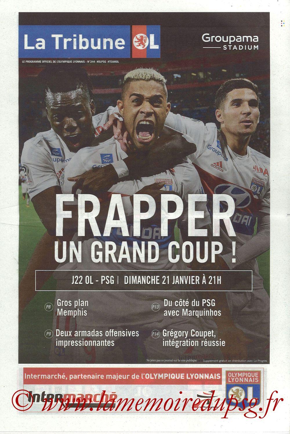 2018-01-21  Lyon-PSG (22ème L1, La Tribune OL N° 244)