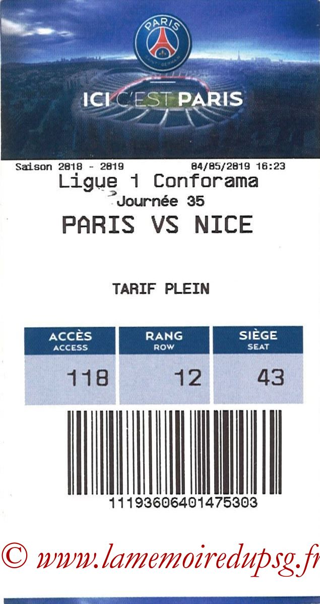 2019-05-04  PSG-Nice (35ème L1, E-ticket)