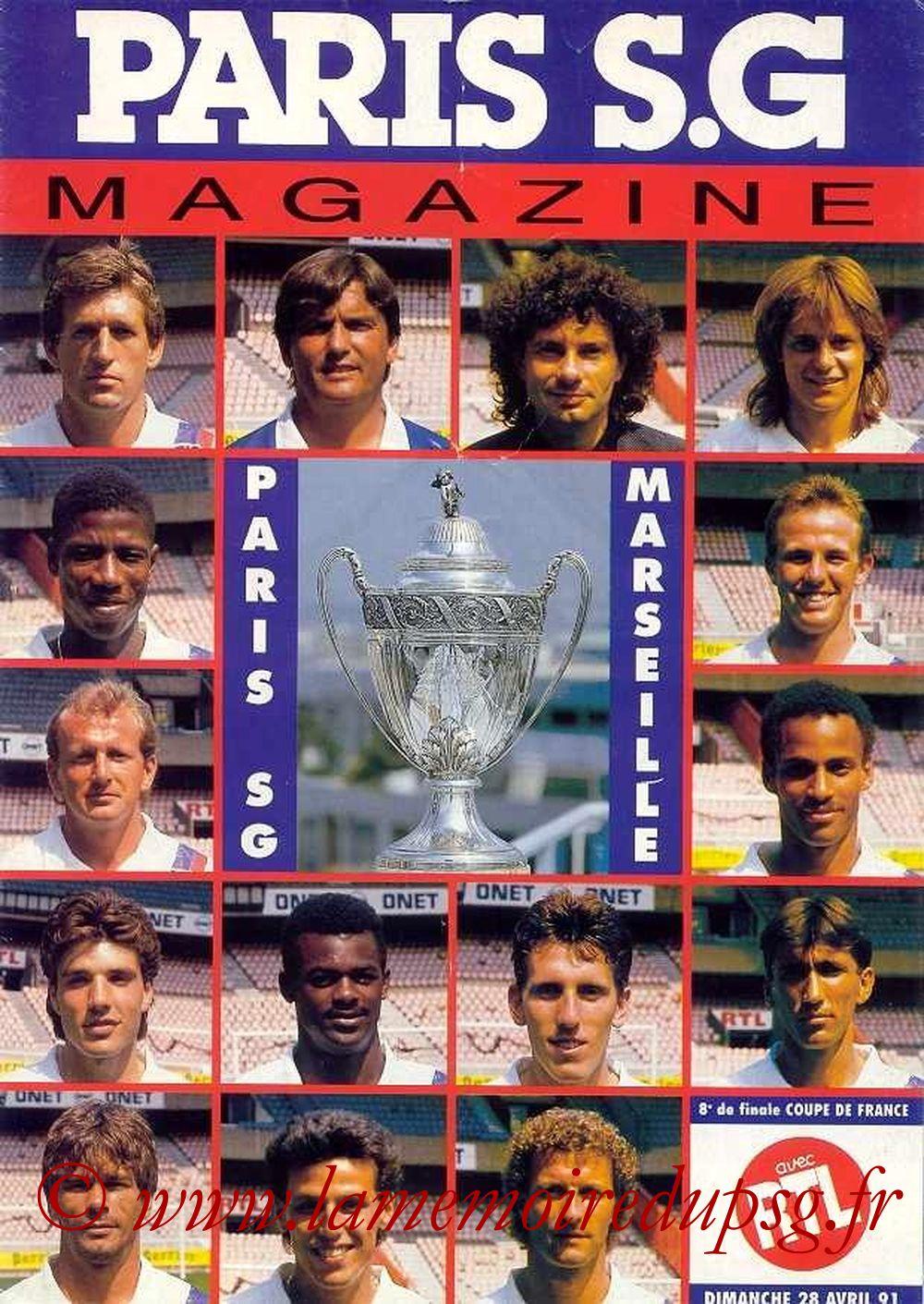 1991-04-28  PSG-Marseille (8ème Finale CF, Paris SG Magazine N°19)