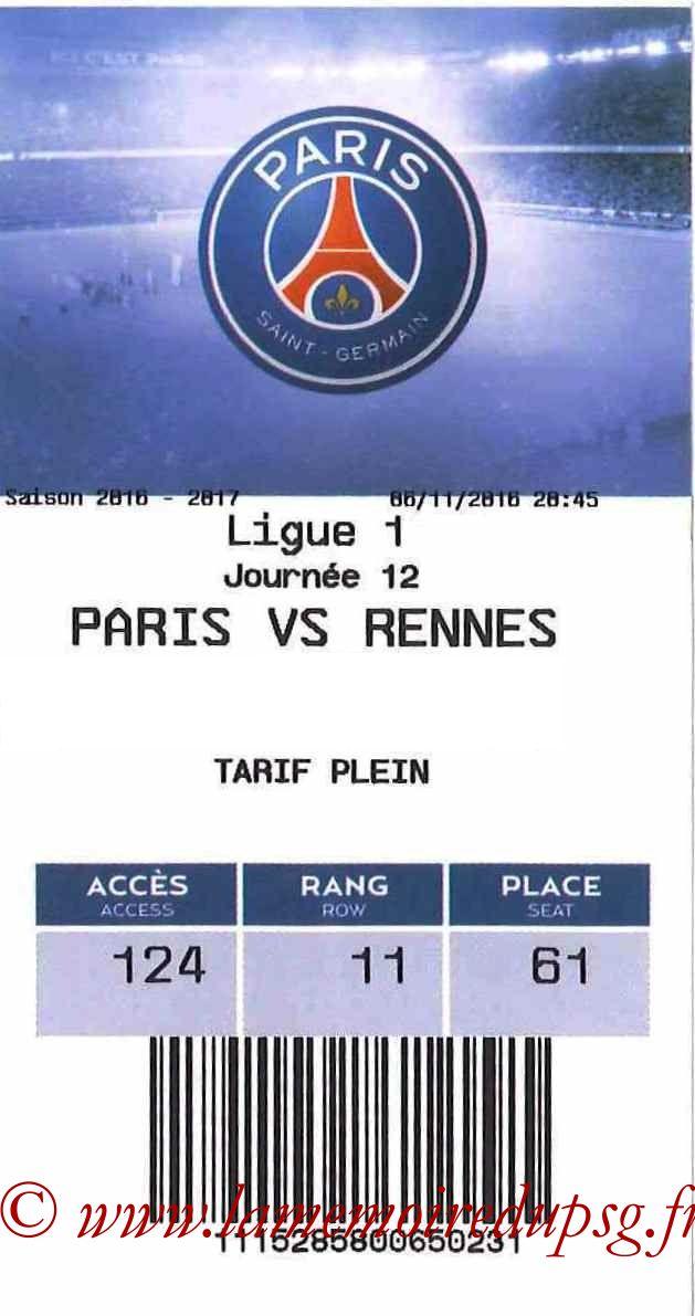 2016-11-06  PSG-Rennes (12ème L1, E-ticket)