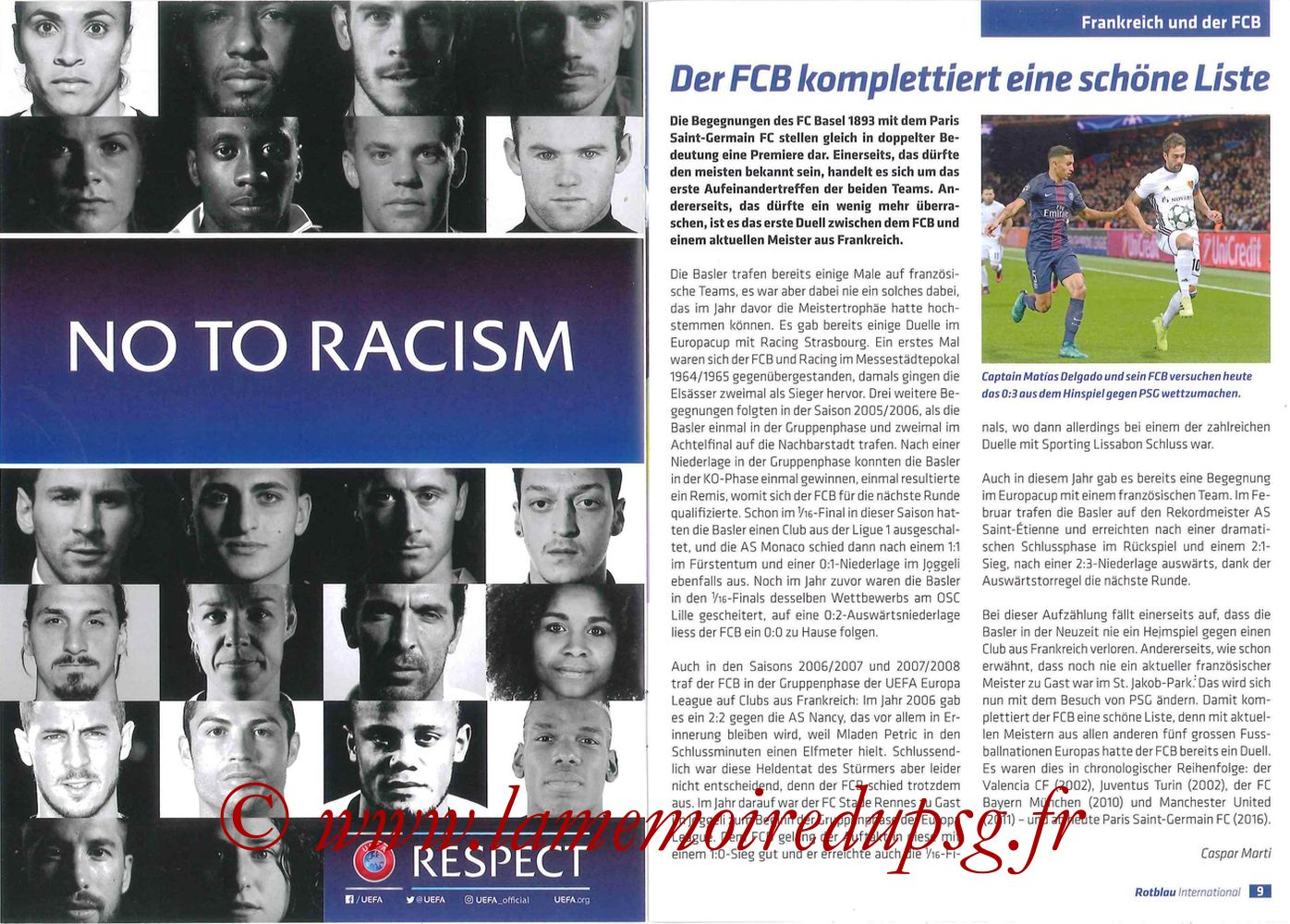 2016-11-01  FC Bale-PSG (4ème C1, Programme officiel) - Pages 08 et 09