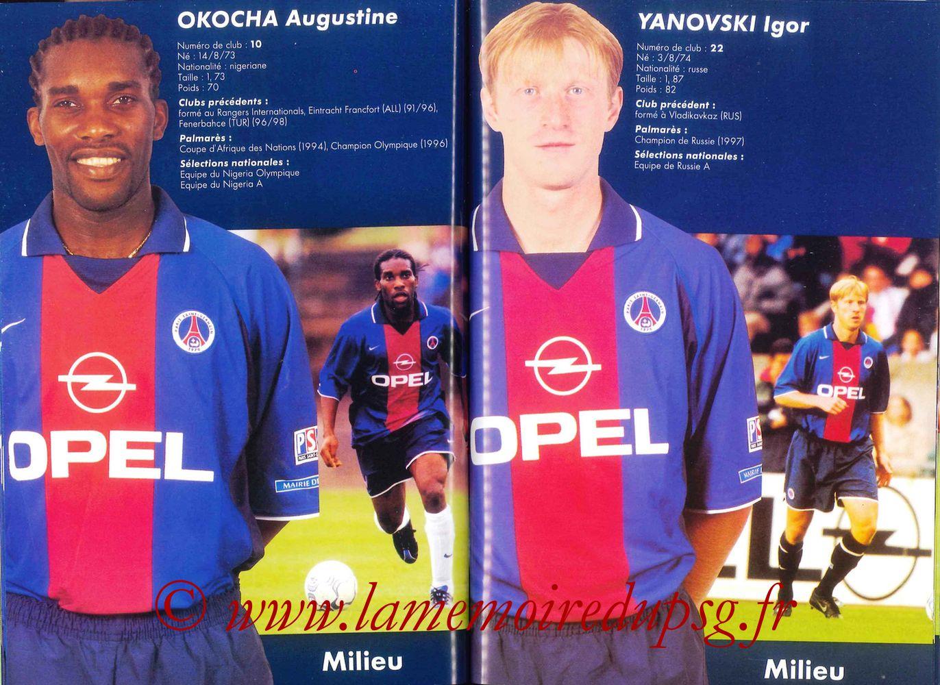 2000-01 - Guide de la Saison PSG - Pages 50 et 51
