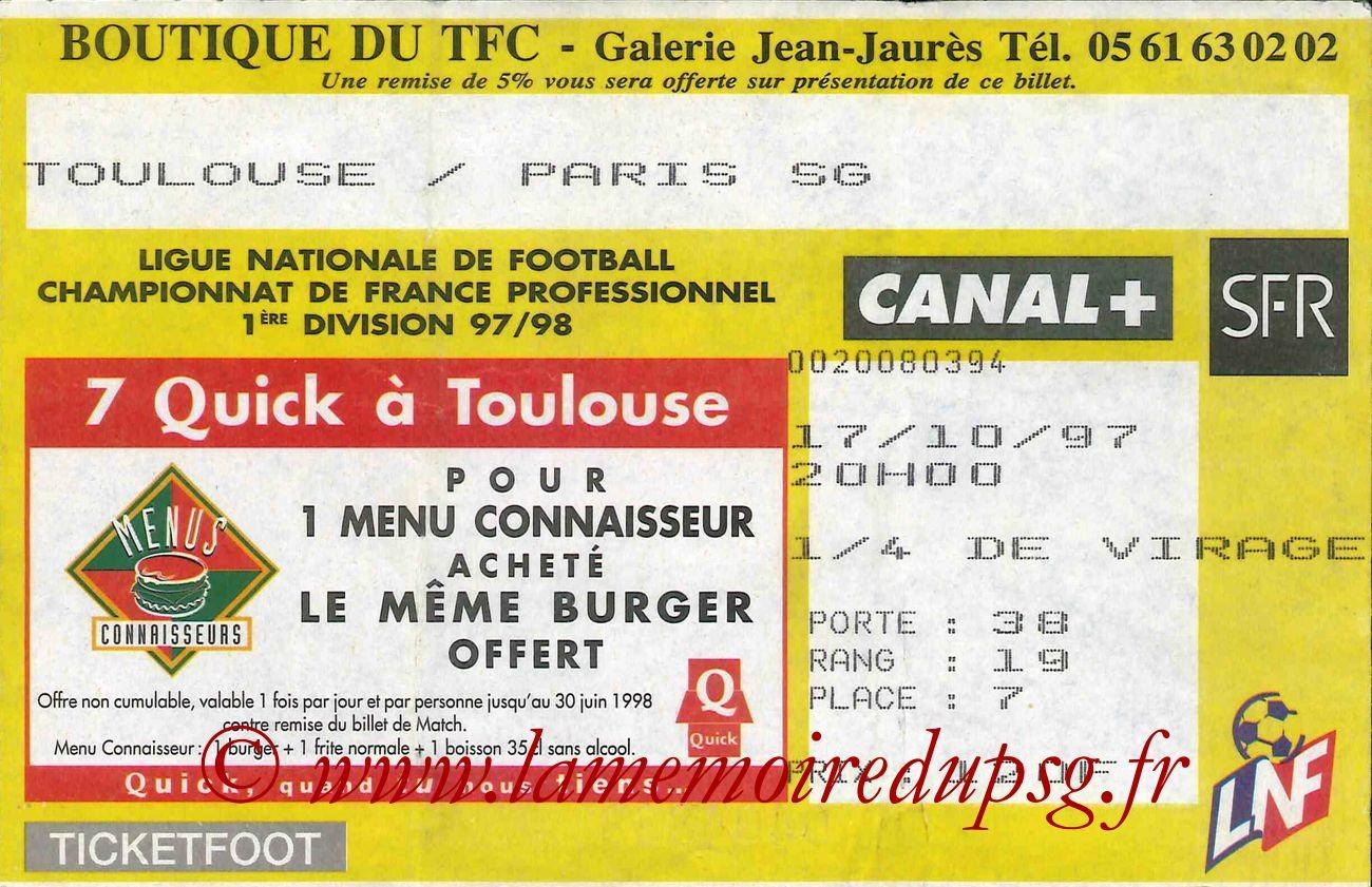 1997-10-17  Toulouse-PSG (12ème D1)
