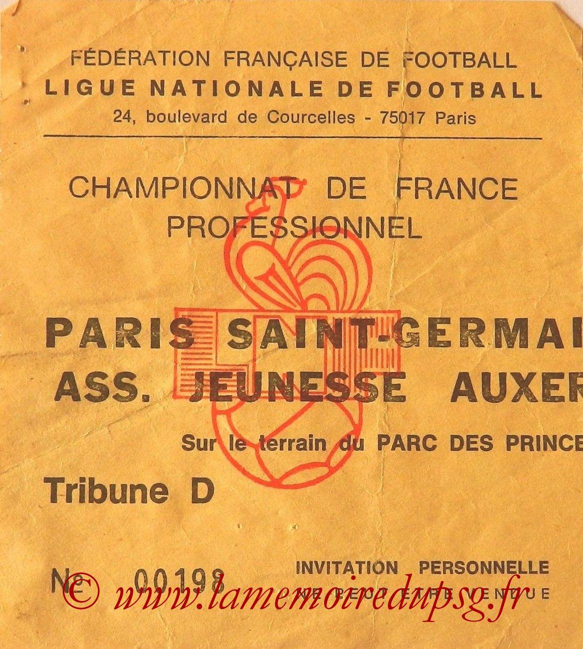 1984-09-28  PSG-Auxerre (10ème D1, Invitation)