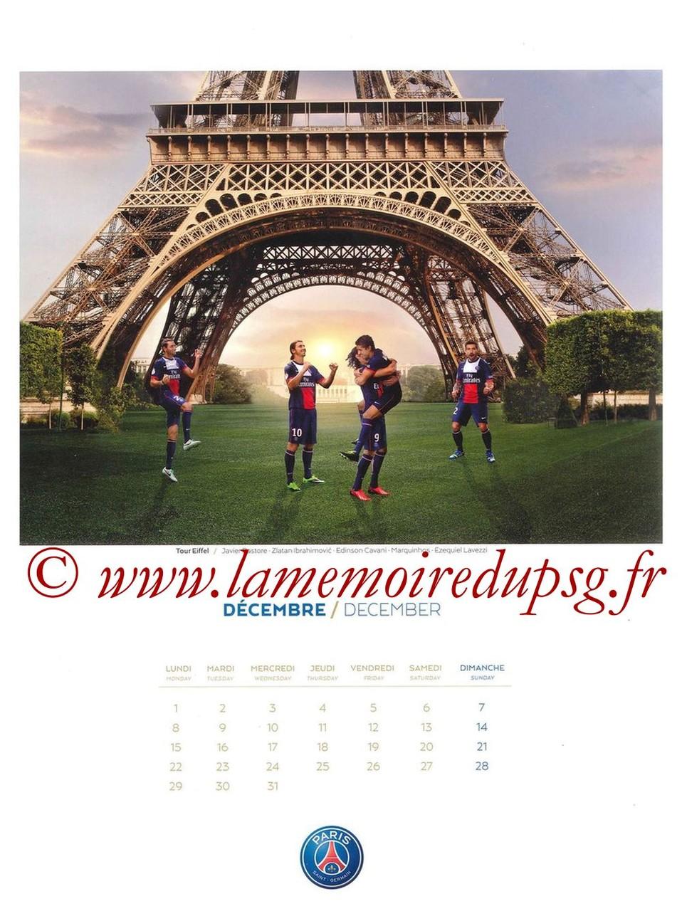 Calendrier PSG 2014 - Page 12 - Tour Eiffel