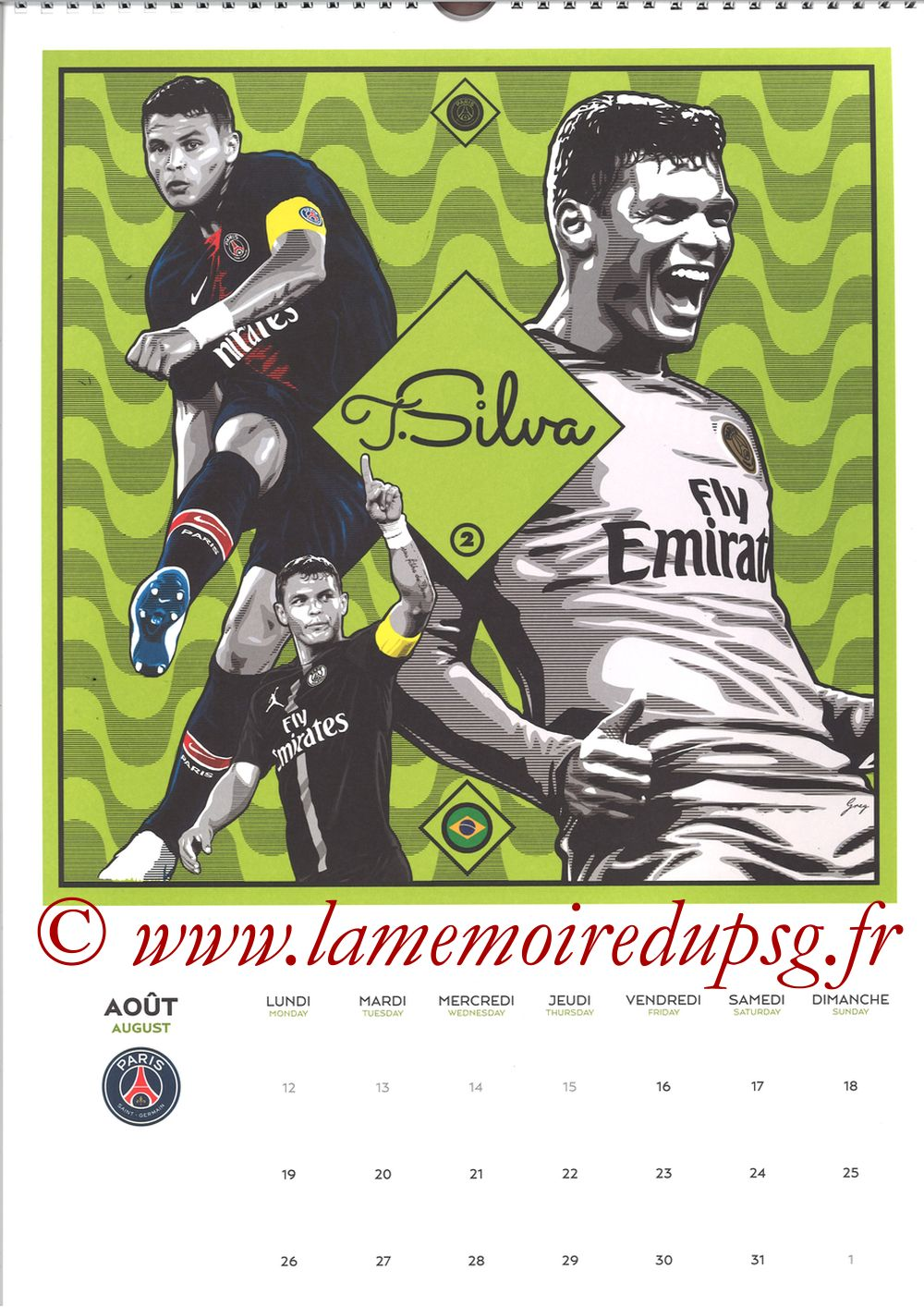 Calendrier PSG 2019 - Page 16 - Thiago SILVA