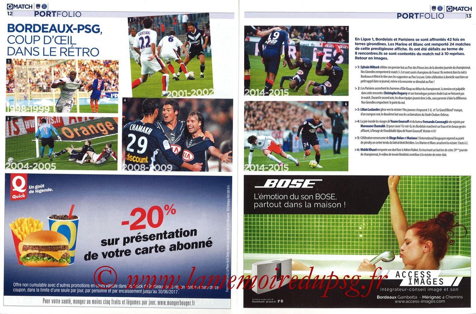 2017-02-10  Bordeaux-PSG (25ème L1, Girondins Match N°35) - Pages 12 et 13
