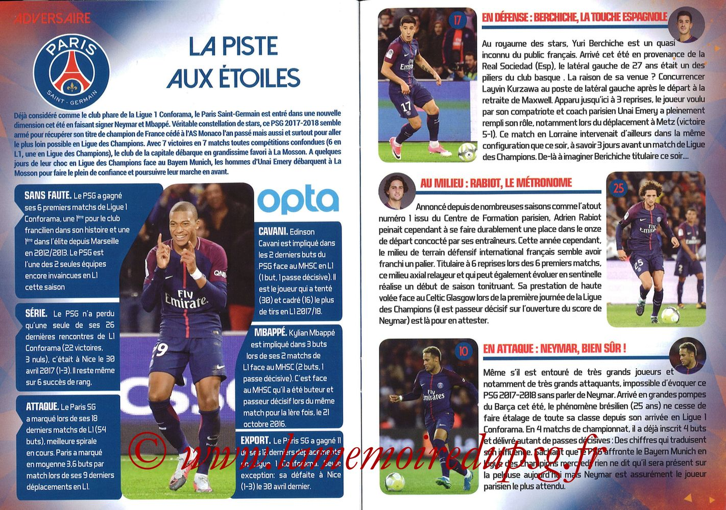 2017-09-23  Montpellier-PSG (7ème L1, L'Echo de la Mosson N°4) - Pages 20 et 21