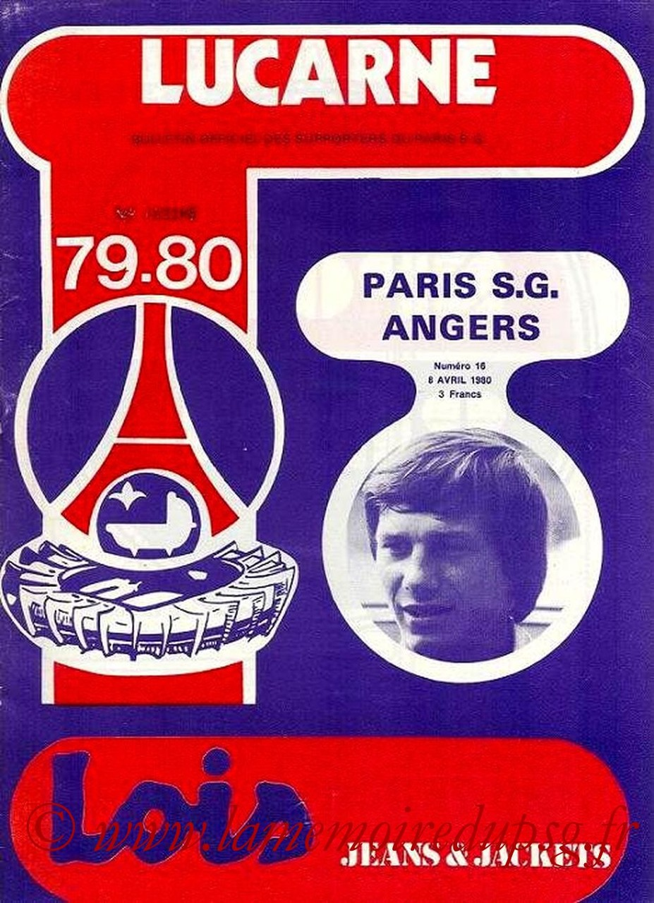 1980-04-08  PSG-Angers (32ème D1, Lucarne N°16)