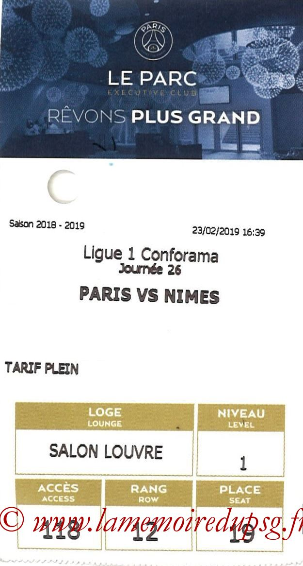 2019-02-23  PSG-Nîmes (26ème L1, E-ticket Executive club)