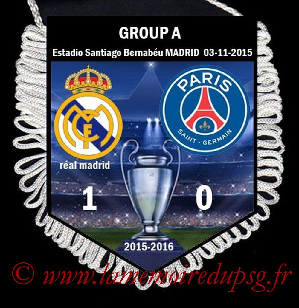 2015-11-03  Real Madrid-PSG (4ème C1)