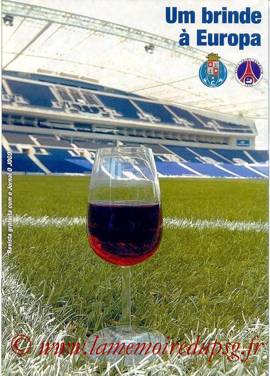 2004-11-02  FC Porto-PSG (4ème Poule C1, Supplément O'Jogo)