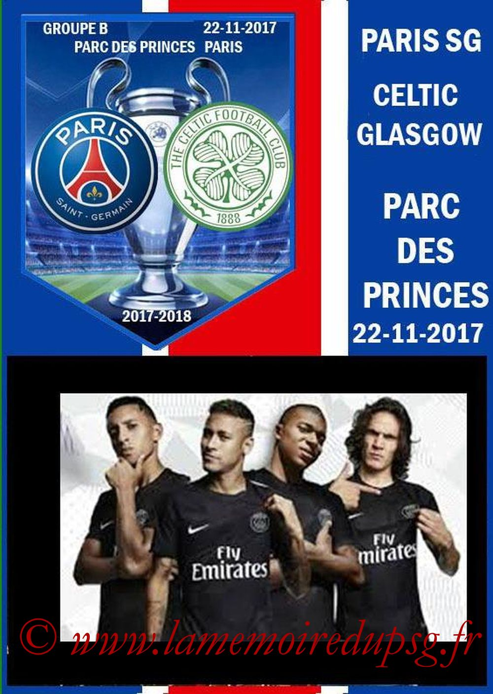 2017-11-22  PSG-Celtic (5ème C1, Programme pirate)