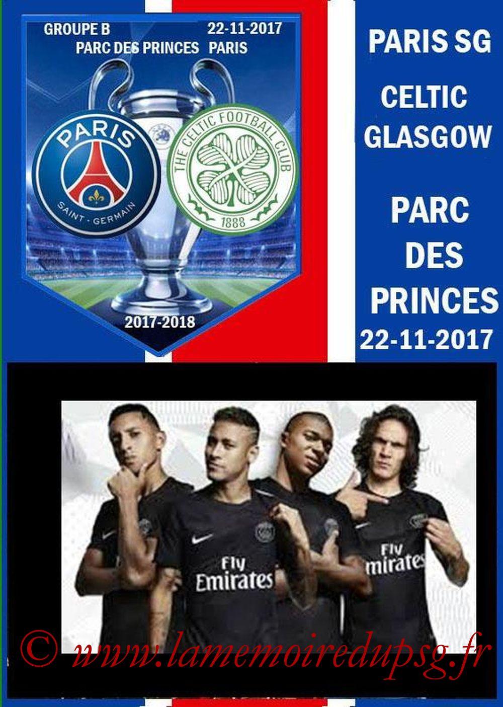 2017-11-22  PSG-Celtic (5ème C1, Programme pirate)