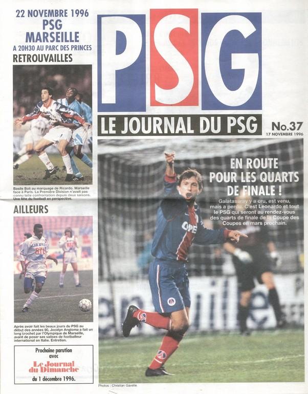 1996-11-22  PSG-Marseille (19ème D1, Le Journal du PSG N°37)