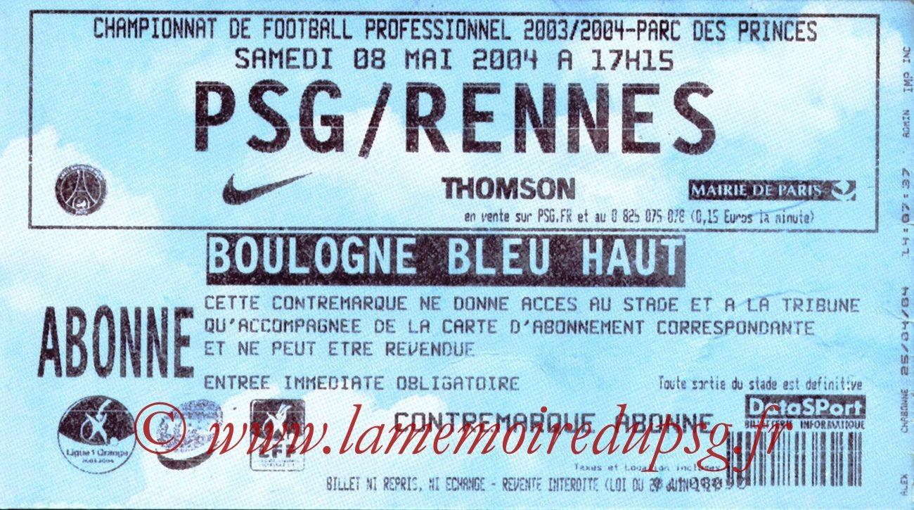 2004-05-08  PSG-Rennes (35ème L1)