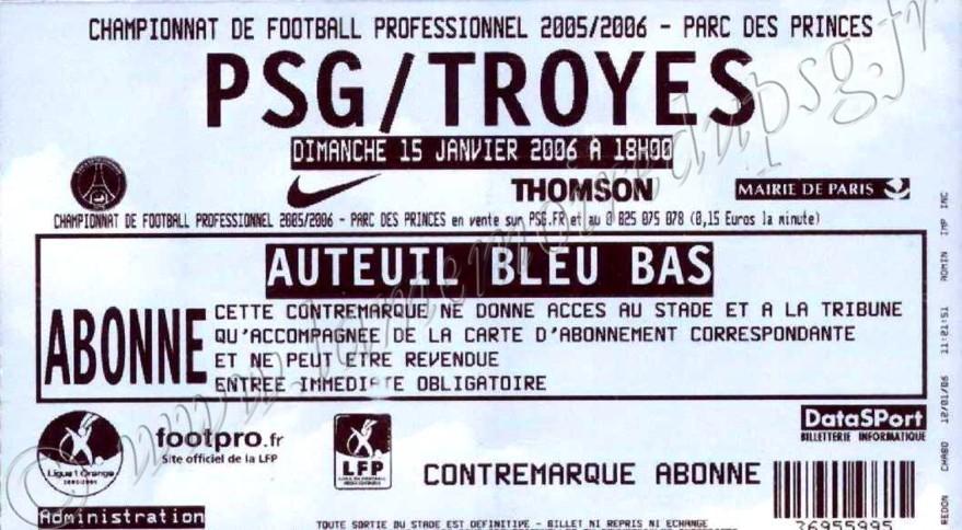 2006-01-15  PSG-Troyes (22ème L1)