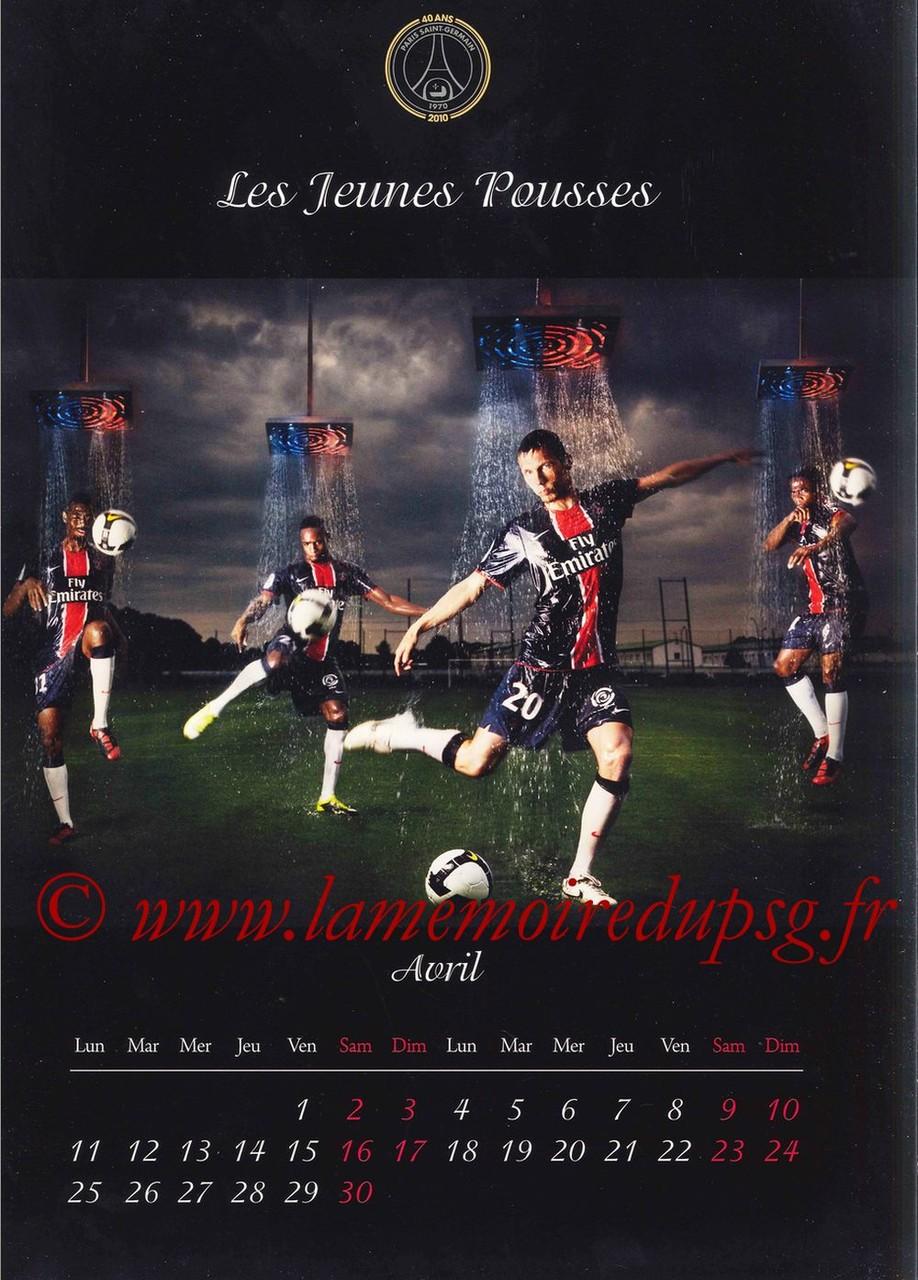 Calendrier PSG 2011 - Page 07 - Les Jeunes Pousses