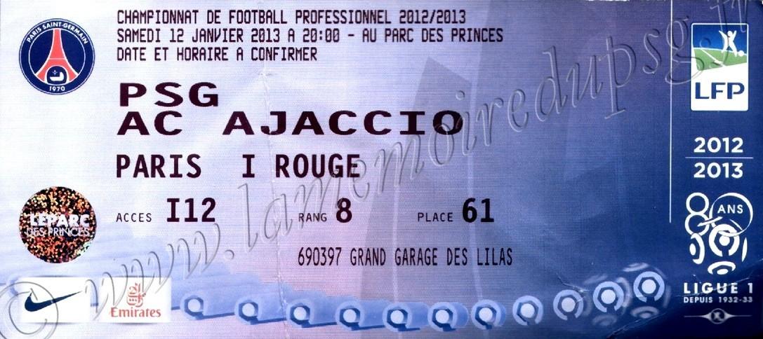 2013-01-11  PSG-Ajaccio (20ème L1)