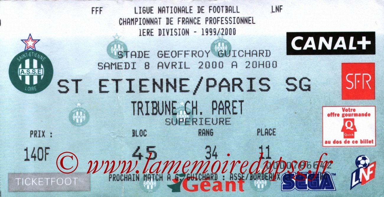 2000-04-08  Saint Etienne-PSG (30ème D1)
